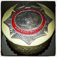 Lieutenant Badge Cake