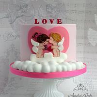 Baby angels in love - Valentine's Day