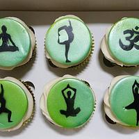 Yoga. Birthday Cupcakes