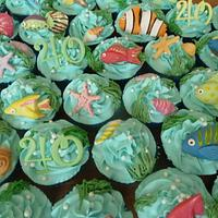Tropical Fish Cupcakes