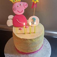 Peppa seminaked cake