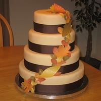 Fall Wedding Cake (State Fair Entry 2010)