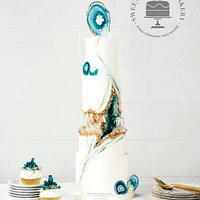 Agate Geode Wedding Cake