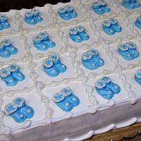 Baby Booties cake Buttercream