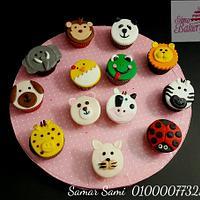 Farm animals cupcakes by Simo Bakery