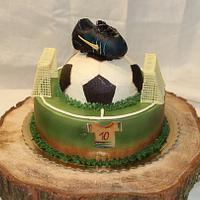 Football cake without fondant