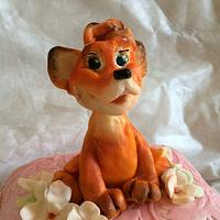 Cakе for girl with little fox.
