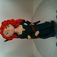 Disney  Merida fondant figure