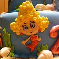 Bubble Guppie cake