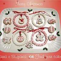 Christmas cookies and garlands