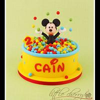 Mickey Mouse Ball Pit Fun Cake