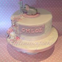 Pretty little elephant cake
