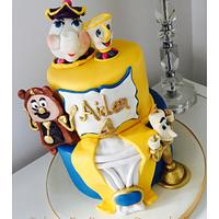 Beauty and the Beast 2 tier cake