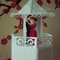 Royal icing anniversary cake