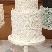 Extended Tier Lace Wedding cake