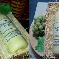 Wine in a crate, Chocolate cake by TheLittleCavity