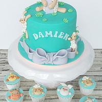 Sheep theme cake