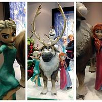Frozen Cake 2.0 Made for The Walt Disney Company London