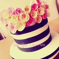 Stripes & wafer roses