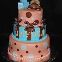 Blue and Brown baby shower