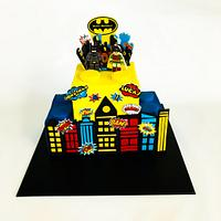 Lego Batman and Robin cake