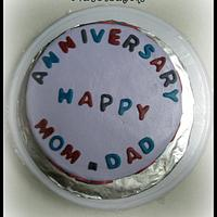 MOM & DAD Anniversary Cake