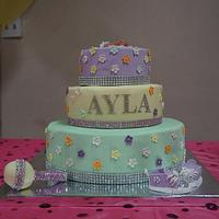 Glam Baby Shower Cake
