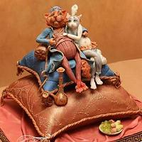 Cake in Oriental style. Cats in love ;)