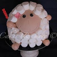 Giant sheep cake