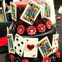 Casino themed 50th cake