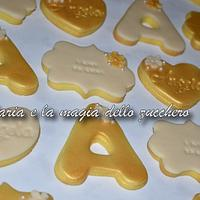Gold and Ivory cookies