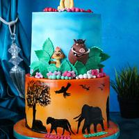 Simba lion King cake  by Rana Eid