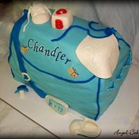 Diaper Bag Baby Shower Cake