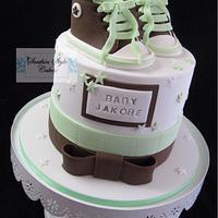 Welcoming baby cake