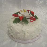 Holly Lace Fruit Cake.
