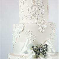 Ivory Lace Cake