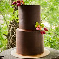 Rustic wedding cake!!