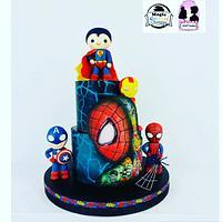 Super héros cake party