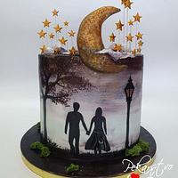 Double birthday cake!🌙❤