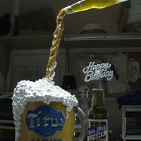 Gravity Defying Beer Cake