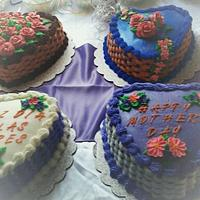 basket weave cakes