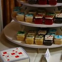 Minecraft Cupcakes & Cake by Andrea