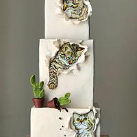 Three Little Kittens cake...….