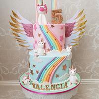 Unicorn Rainbow Birthday cake