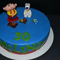 Stewie and Brian Cake