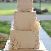 Square bas relief cake