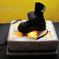 The combat boots cake