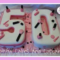 50th Make Up Cake