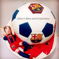 FCB CAKE for the fan⚽️⚽️⚽️
