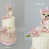 Cute teddy bear by MOLI Cakes